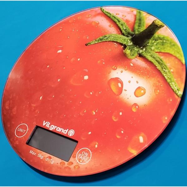Ваги кухонні електронні Vilgrand VKS-519 Томат без чаші 5кг точність 1г автовикл