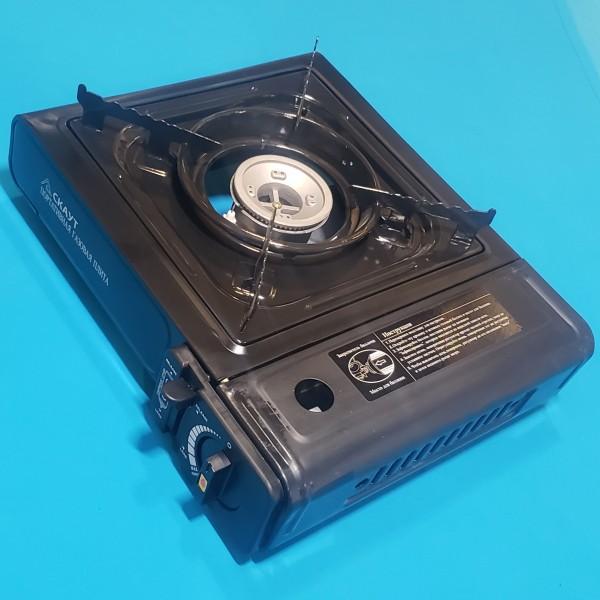 Плита газова портативна СКАУТ BDZ-153P 1027 з перехідником