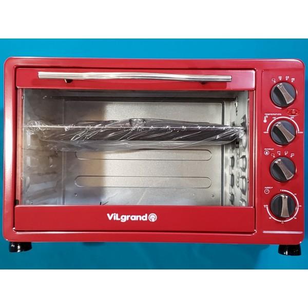 Піч електрична Vilgrand VEO484RCL Red 2000W 48л КОНВЕКЦІЯ гриль підсвітка регулювання таймер ЧЕРВОНА
