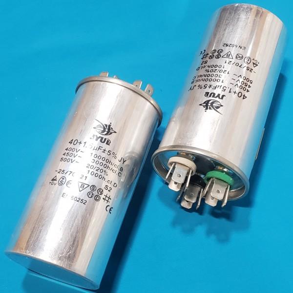 Конденсатор 40+1,5 мкФ 450 VAC алюміній (50х100 mm) JYUL