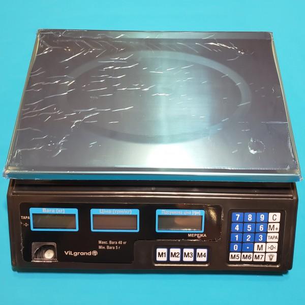 Ваги торговельні електронні Vilgrand 40 кг