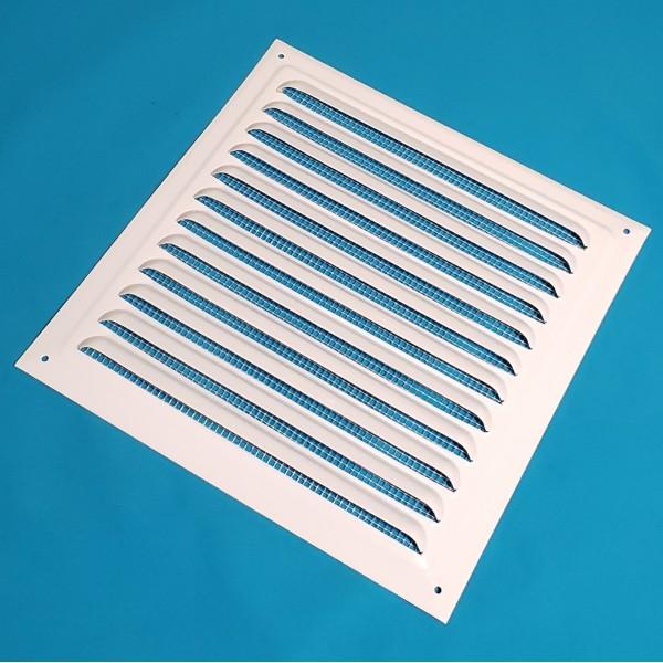 Решітка вентиляційна 200*200 біла металічна