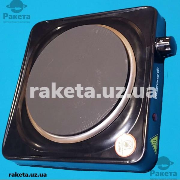 Плита електрична Vilgrand VHP171F Black 1500W 1-но камфорна БЛИН елемент d=185 мм ЧОРНА