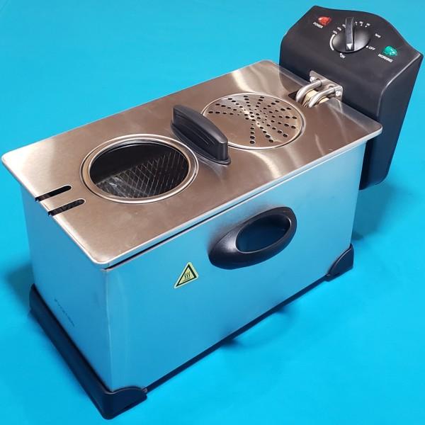 Фритюрниця Kamille KM-6813 електрич 3.0л 2000W антипригар контроль тепрератури до 190°С поліетилен ізоляц